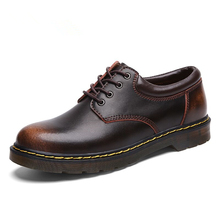 High Quality Genuine Leather Men Shoes Spring Work Safety Ca