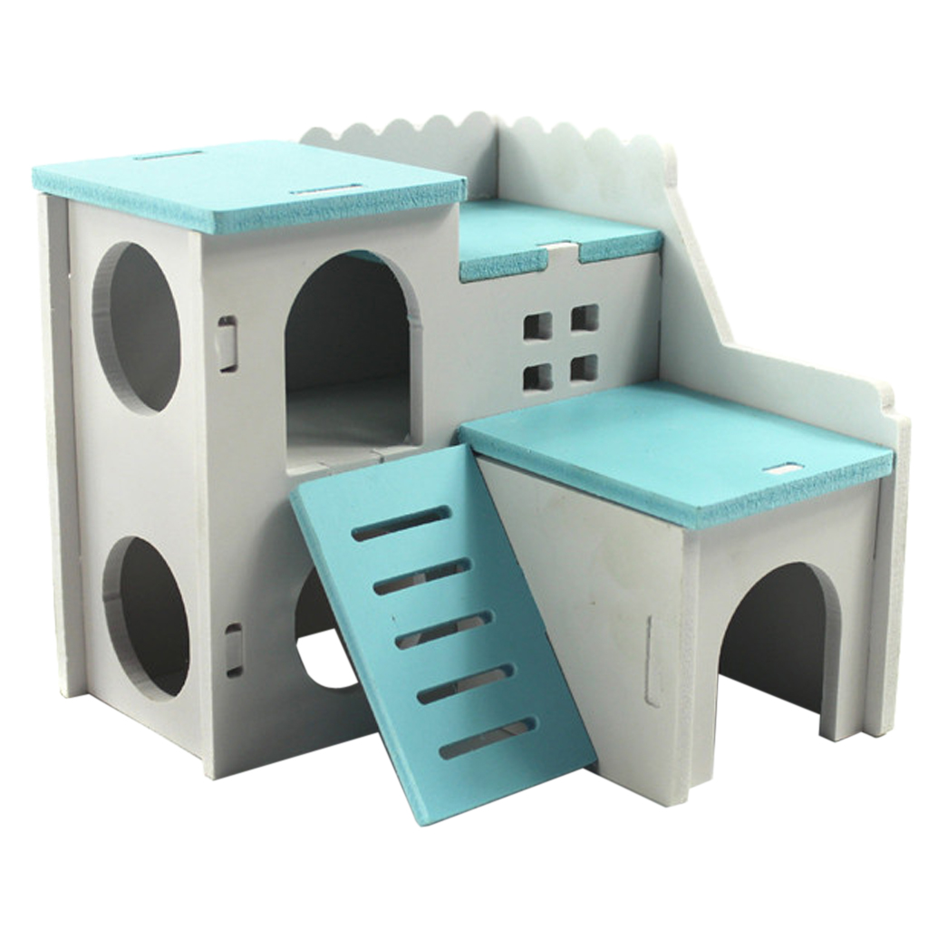 Colorful Ecological Board Hamster House Pet Gym Squirrel Rabbit Climb PlayGround Bed Nest