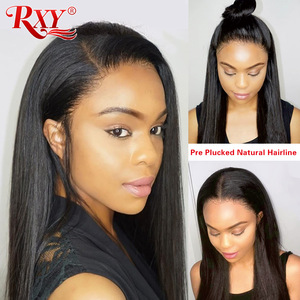 RXY Lace Front Human Hair Wigs For Black Women 13x4 Straight Lace Front Wigs With Baby Hair Brazilian Wig Pre Plucked Remy Hair