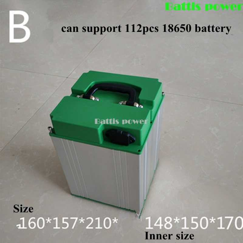 Electric Scooter Tricycle Battery Box Alu Case Waterproof Case for Lithium 48v 20ah 12v 100ah 24v 36v 60v Battery Pack Case