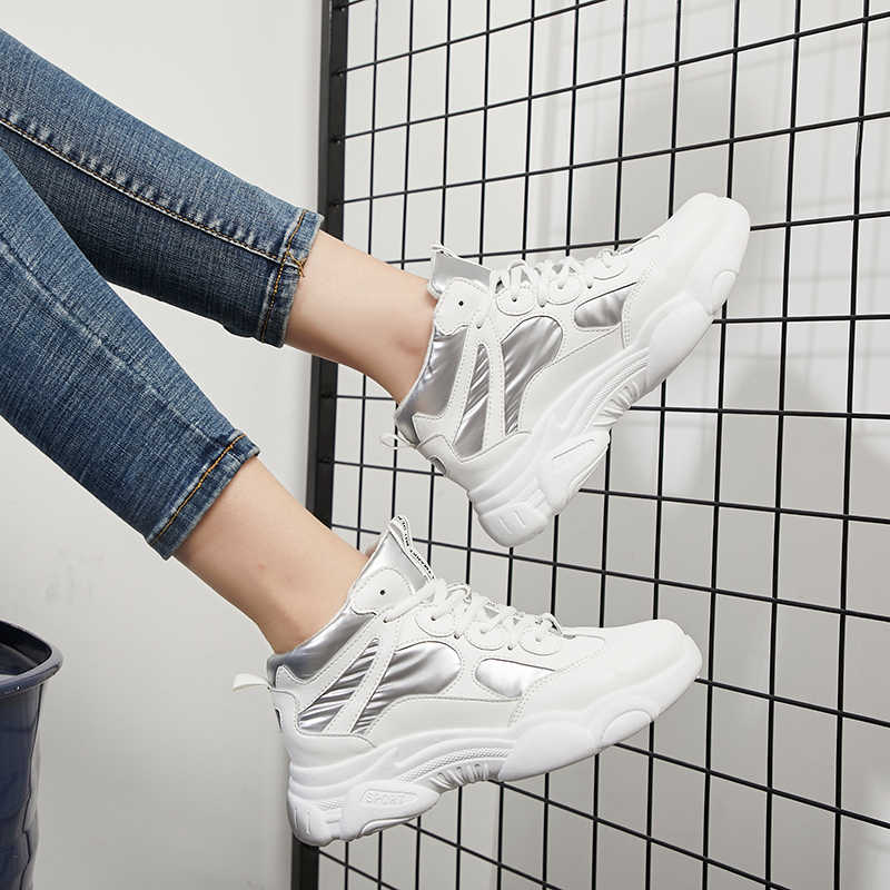Fujin/кроссовки на толстой подошве; модная женская зимняя обувь с перекрестной шнуровкой; Плюшевые Теплые Меховые дышащие полуботинки с кружевом для отдыха