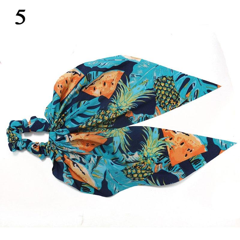 Bohème grande fleur chouchous longs banderoles arc cheveux écharpe femmes filles doux cheveux corde cravates mode cheveux accessoires chapeaux 59