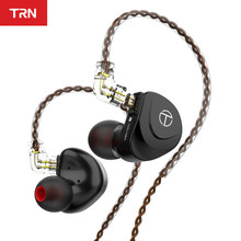 TRN V90s 5BA 1DD Hybrid Driver In Ear Earphone HIFI Monitor Running Sport Earphone with 2PIN OCC Pure Copper Cable Detachable