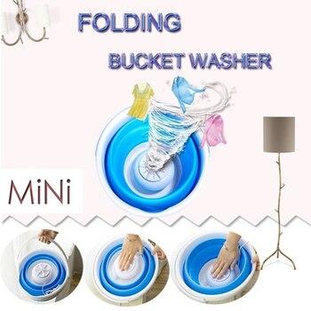 Minimáquina de lavado de ropa automática, lavamanos portátil, plegable, en Stock 2