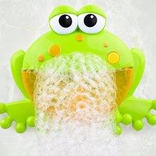 Мультфильм милый лягушка Автоматическая пузырьковая воздуходувка мыло машина производитель вечерние летние игрушки для ванной для детей