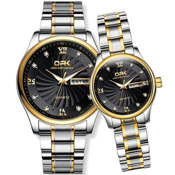 NEW Couple Watch Men Ladis Top Brand Causal Luxury Waterproof Stainless Steel Quartz Date Clock Lover Wristwatch часы женские