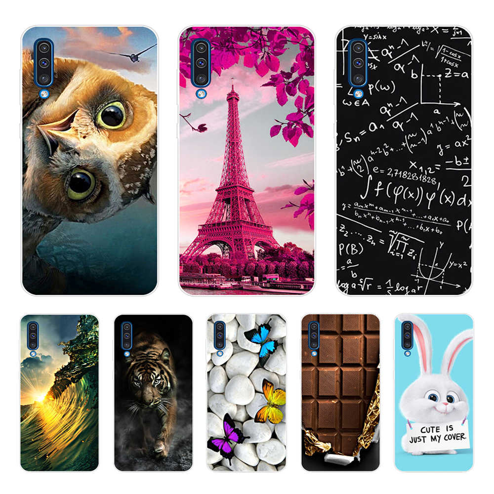 For Samsung Galaxy A50 Case 2019 Fashion Flower Soft TPU silicone Back Cover For On Samsung A30 30 A 50 A505 Phone Shells Cases