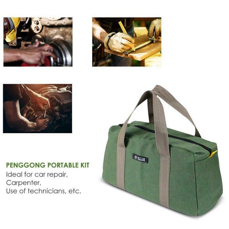 Сумка для ручных инструментов из ткани Оксфорд Портативная многофункциональная Толстая сумка для электрика износостойкая сумка для