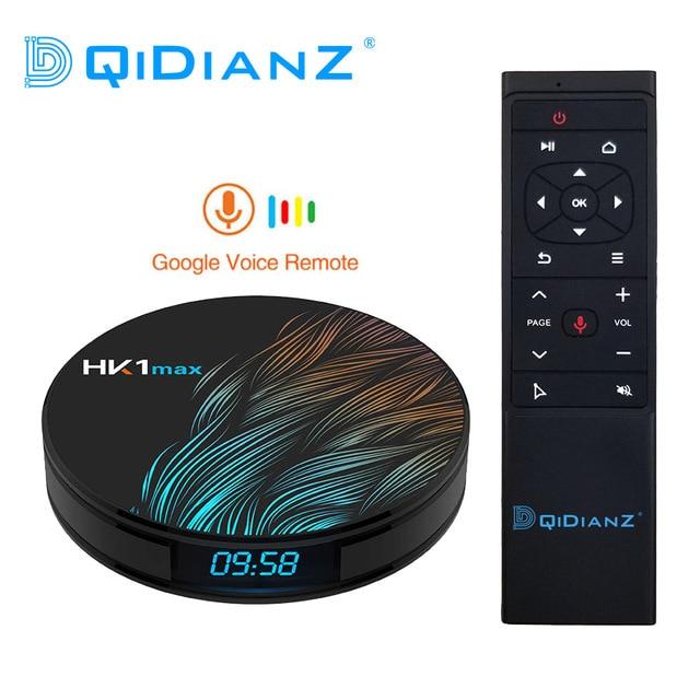 DQiDianZ Android 9.0 สมาร์ททีวีกล่องHK1 MAXมินิสมาร์ททีวีกล่อง 2.4G/5G Wifi RK3318 Quad Core BT 4.0 Set Top Box Media Player HK1MAX