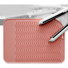 Professional Salon Hair Irons Curling Irons Hair Straighteners Heat Proof Silicone Mat Safety Anti-heat Travel Pad 23x16.5cm