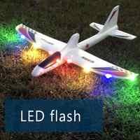 Condensador de regalo que lanza a mano el modelo educativo eléctrico Diy Glider espuma Rc avión juguetes para niños