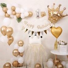 1st Glücklich Geburtstag Party Luftballons Baby Dusche Junge Mädchen Helium Ballon Geburtstag Party Dekorationen Kinder Ein Jahr Alt Versorgung