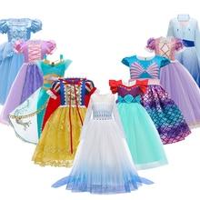 2020 novas crianças 3-12y halloween vestido de princesa do bebê menina cospaly vestidos de festa de natal para a criança meninas crianças traje de outono