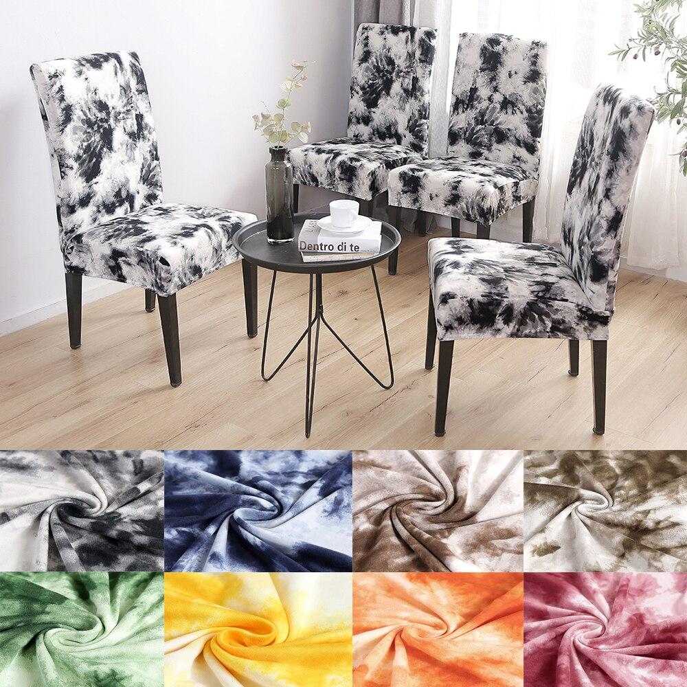 Накидка на стул из спандекса в полоску с цветочным принтом эластичное покрытие для стула обеденный стул современный съемный для кухни