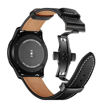 Genuine Leather Wrist Strap 22mm for Samsung Gear S3 Frontier Huawei Xiaomi Amazfit Watch Band loop Replacement Classic Bracelet