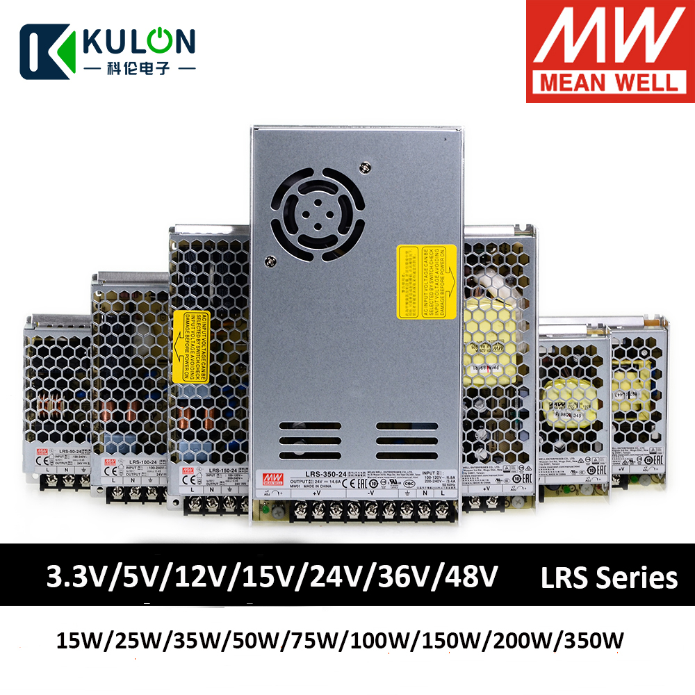 MEAN WELL LRS 10A 3A 5A 6A 4A 9A 2A switching power supply <font><b>module</b></font> <font><b>220v</b></font> ac 3.3v 4.2v 5v <font><b>12v</b></font> 15v 24v 36v 48v dc smps led strip image