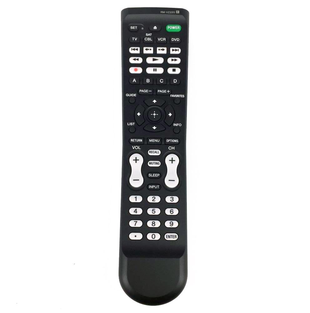 New Original RM-VZ220 For Sony 4-Device SAT TV CBL VCR DVD Black Remote Control