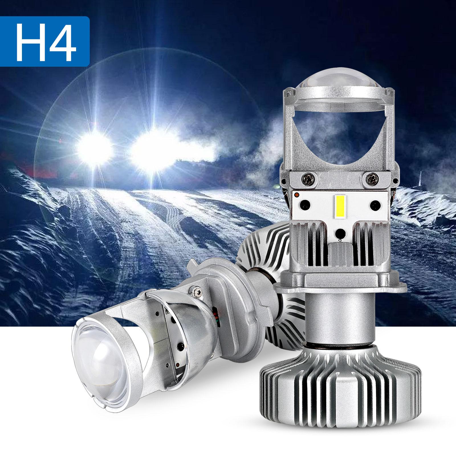 NOVSIGHT 80W/Pair Lamp H4 LED Mini Projector Lens Automobles LED Bulb Conversion Kit Hi/Lo Beam Headlight 12V/24V 6500K White