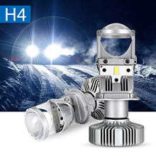 NOVSIGHT 80 W/Pair Lampe H4 FÜHRTE Mini Projektor Objektiv Automobles LED Bulb Conversion Kit Hallo/Lo Strahl Scheinwerfer 12 v/24 V 6500K Weiß(China)