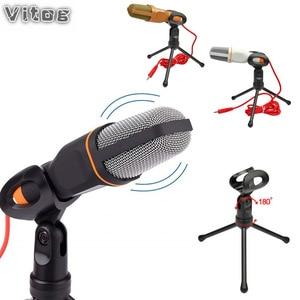 Image 1 - Professional Condenser Microphone Kit Microphone For Computer Handheld Megaphone cheap lapel drum mics recorder PC computer