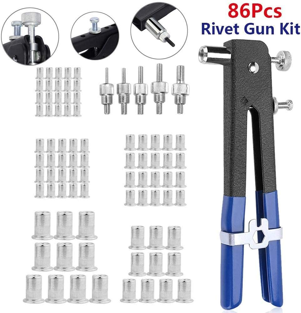 Ultimate Sale•Tools Riveter-Kit Hand-Blind Automotive Heavy-Duty 86pcs for Sheet Metal Duct-Work Boat
