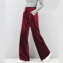 Plus tamanho calças de veludo de inverno, moda coreana feminino autunm calças de veludo de cintura alta streewear, preto marrom cinza calças M-6XL 7xl