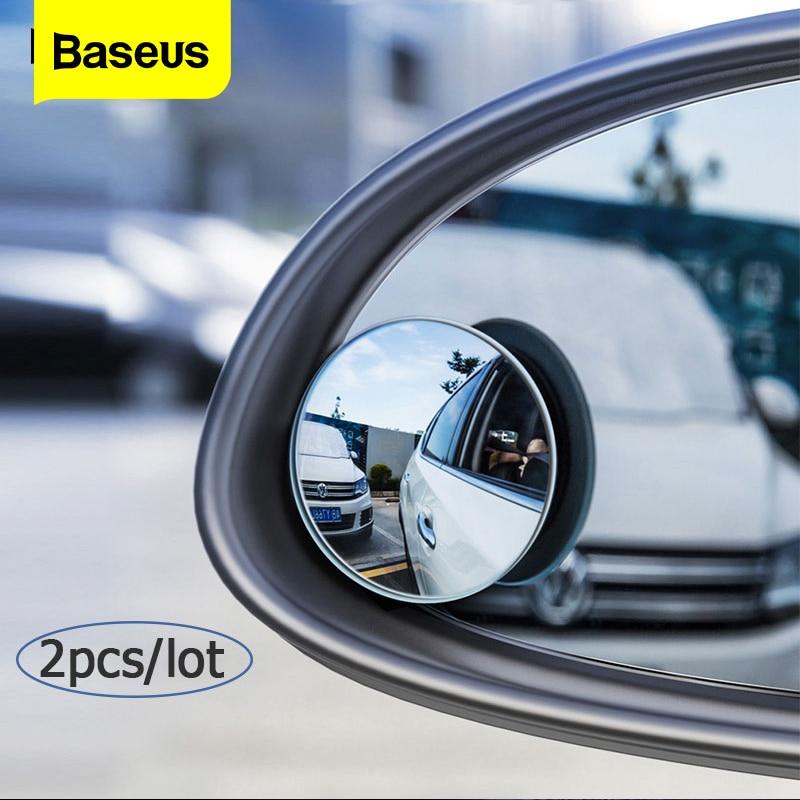 Baseus 360 Degree Universal Blind Spot Mirror For Car HOT Sale Frameless  Wide Angle Telescopic Inspection Parking Mirror