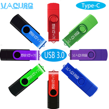 OTG 3 IN 1 Type c pendrive 256GB 128GB pen drive64GB cle usb 3.0 flash drives32GB memoria usb stick 16GB For micro- Type c phone