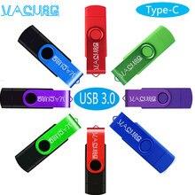 Otg 3 em 1 tipo c pendrive 256gb 128gb caneta drive64gb cle usb 3.0 flash drives32gb memoria usb vara 16gb para o micro-tipo c telefone