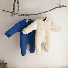 Одежда для малышей; Зимний детский комбинезон из плотного флиса;