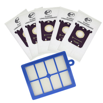 1pc Replacement Hepa Filter with 5pcs Dust Bags for Electrolux Vacuum Cleaner Hepa Filter and S-BAG FC8031 Series Oxy3Systems 10 pieces lot vacuum cleaner bags filter paper bag dust bag for electrolux airclean airmax zam bolido clario s bag series etc