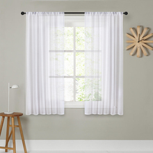 CDIY Short Curtains For Kitchen Solid Voile Curtains For Living Room Modern Bedroom Sheer Curtains Window Screening Drapes Decor cdiy tulle curtains for living room bedroom kitchen modern sheer curtains for window screening linen voile curtains drapes door