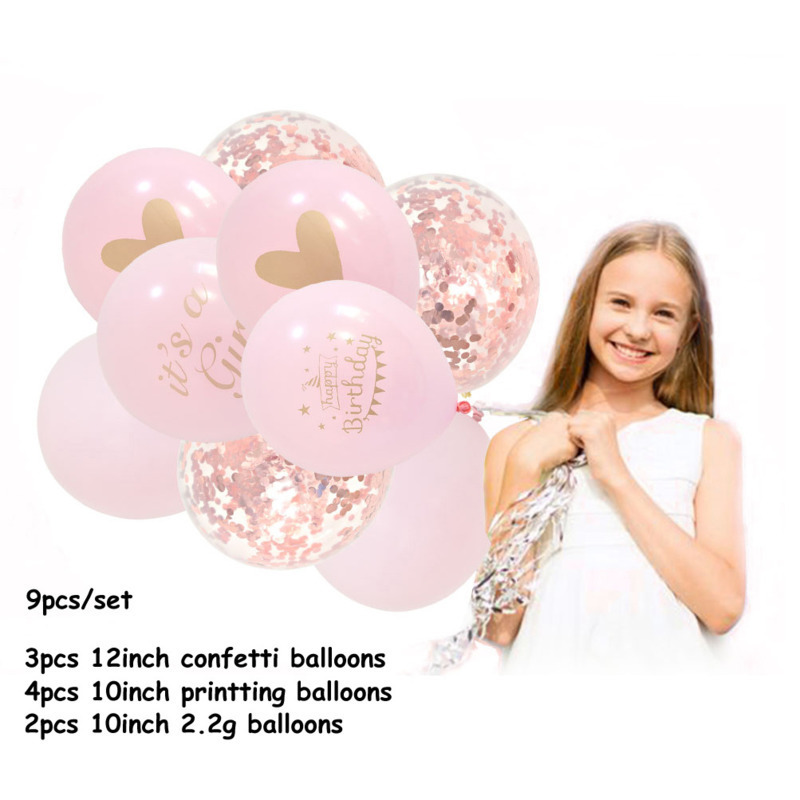 It's A Girl Printing Letter Balloon Field Arrangement Party Articles Decoration Adult Baby Children At Printed Text