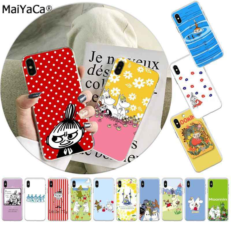 MaiYaCa Grappige Moomin Little Mijn Telefoon Case voor Apple iphone 11 pro 8 7 66S Plus X XS MAX 5S SE XR fundas Mobiele Cover