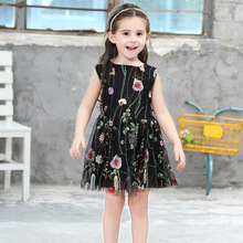 цена на Girls Dresses 2020 Summer Girl Clothes Flower Kids Dress Girls Princess Dress Baby Girls Party Dress 2-8 Years Children Clothes