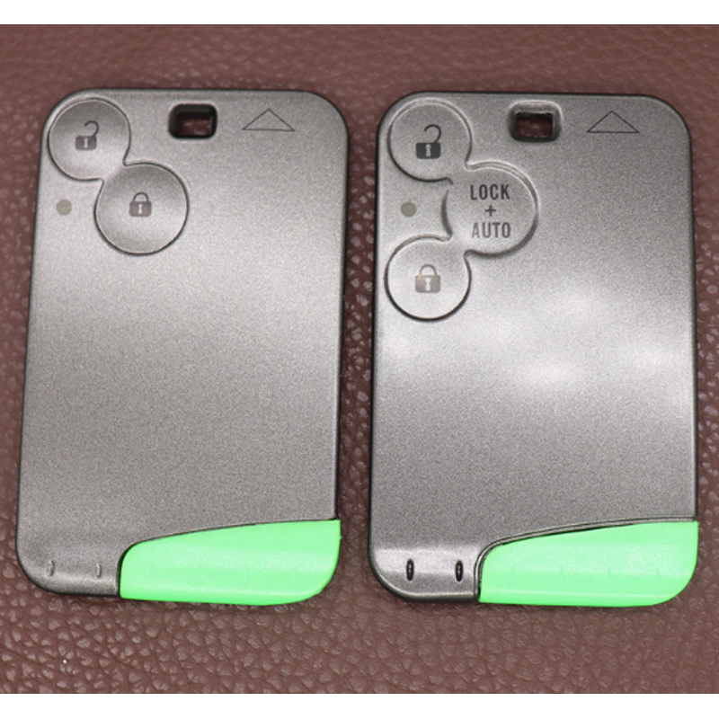 REPLACEMENT 2 BUTTON KEY CARD CASE FOR Renault Clio Megane REMOTE CARD FOB