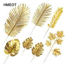 Garden-Plants Artificial Tail-Leaf Gold-Series Home-Decor Wedding DIY Silk Blade Scattered