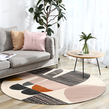 INS popular post-modern round shaped geometric living room rug,, big size Nordic decoration area rug, villa carpet