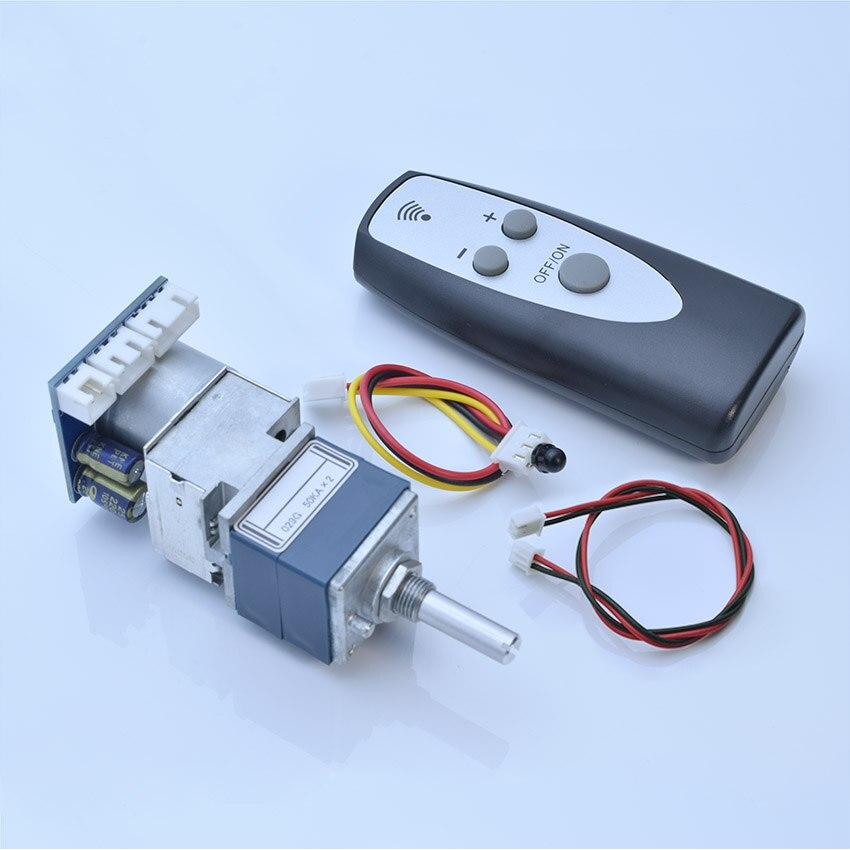 ALPS27-potenciómetro de Motor, Control remoto de volumen, tablero de potenciómetro para preamplificador 10K 50K 100K