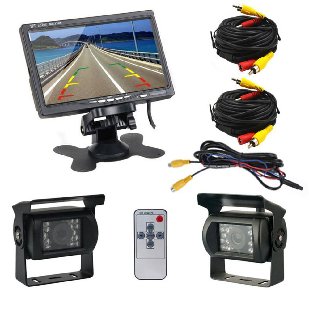 7TFT LCD Lcd Car Monitor Rear View Display Hd  Reverse Camera Parking System For Truck With 1 Len