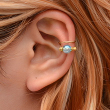Hello Miss New earrings hollow irregular ear bone clip sweet beads retro fashion womens jewelry holiday gifts