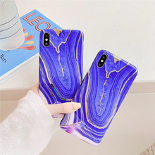 Blue plating marble pattern phone case For iphone XS MAX XR X case For iphone 6 6s 7 8plus luxury TPU soft shell capa back cover стоимость