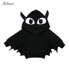 ARLONEET 2019 Baby Boys amp Girls Halloween Cartoon Coat Hooded Jackets Warm Outerwear baby girl jackets winter boys outerwear fall cheap Fashion COTTON Solid REGULAR Full Fits true to size take your normal size Heavyweight Satin Unisex 2019 winter baby coat