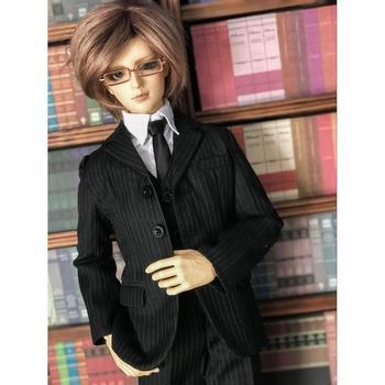 [wamami] 511# Black/White Suit Uniform 1/3 1/4 SD AOD SD17 Male BJD Dollfie Outfits