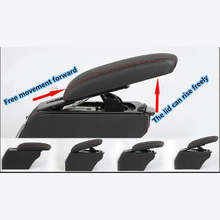 For Kia Soul  10 to13 Leather Car Interior Parts Center Console Armrest Box Auto Armrests Storage with USB leather car interior parts center console armrest box for mercedes benz smart fortwo forfour armrests auto stroage free shipping