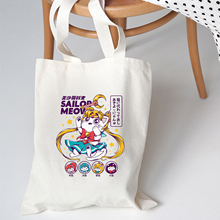 Shoulder-Bag Canvas Feminino Printed Harajuku-Anime Moon Japan Personalized Women Ulzzang
