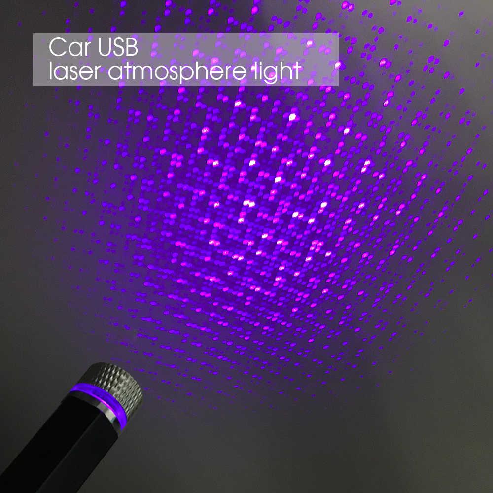 新車屋根スターライトインテリアミニ LED 星空レーザー雰囲気周囲プロジェクターライト USB 自動装飾夜の Galaxy ランプ
