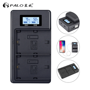 Image 1 - LP E6n LPE6 LP E6 E6N Battery Charger LCD Dual Charger For Canon EOS 5DS R 5D Mark II 5D Mark III 6D 7D 80D EOS 5DS R Camera