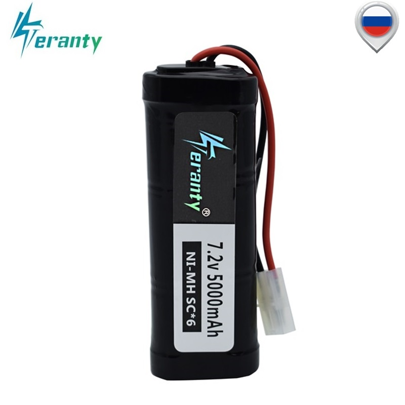 <font><b>7.2v</b></font> Battery 5000mAh SC*6 Cells Ni-MH Battery Pack with <font><b>Tamiya</b></font> Discharge Connector Kep-2p Plug for RC Racing Cars Boats Aircraft image