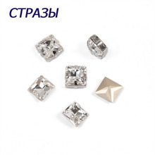 CTPA3bI 4447 Princess Square Crystal Beads Accessories For Jewelry Making Luxury Rhinestones Needlework Crafts Natural Strass